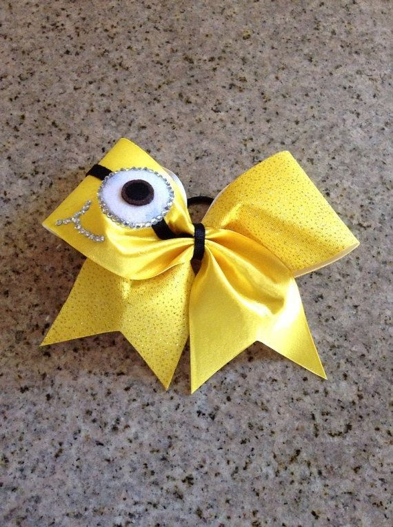 2014 Halloween minion bow crafts for girls makeup - Despicable Me, bowknot #2014 #Halloween #Minion