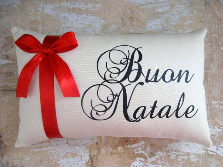 Buon Natale Pillow, Christmas Pillow,