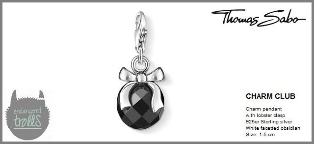 Thomas Sabo Fall 2012 - The Charm Club - Obsidian Pendant Charm - http://www.endangeredtrolls.com/thomas-sabo-fall-2012-charms-2/#