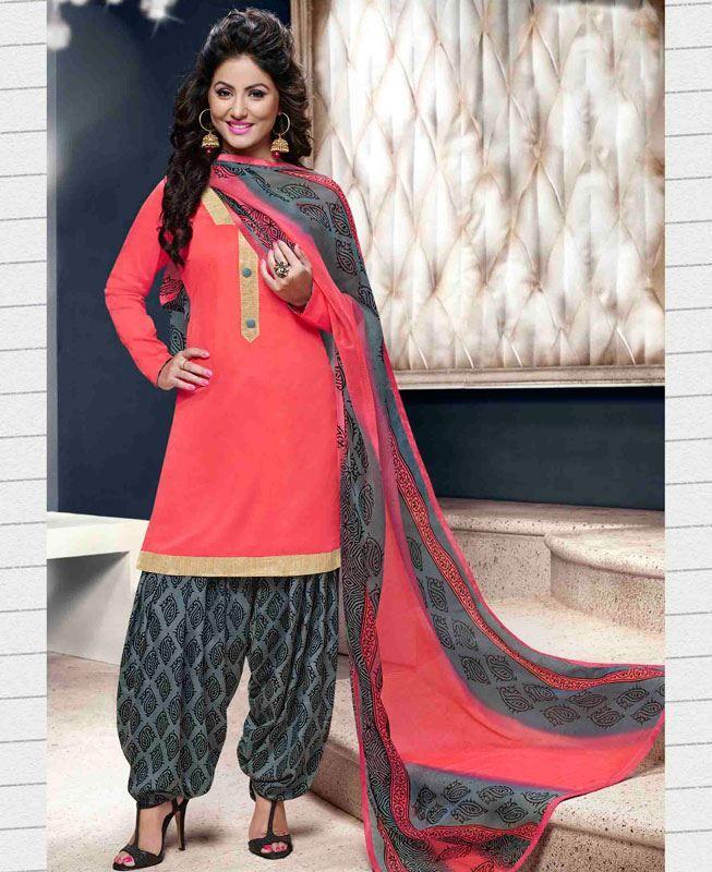 Buy Alluring Pink Patiala Salwar Kameez online at  https://www.a1designerwear.com/alluring-pink-patiala-salwar-kameez  Price: $18.13 USD