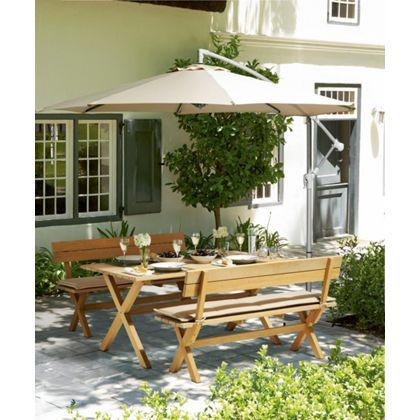 Overhanging Parasol - Cream at Homebase -- Be inspired and make your house a home. Buy now.