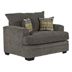 Chair and a Half in Perth Pewter | Nebraska Furniture Mart