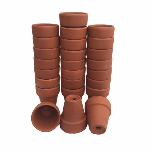 "25 - 2.5"""" x 2.25"""" Clay Pots - Great for Plants and Crafts"