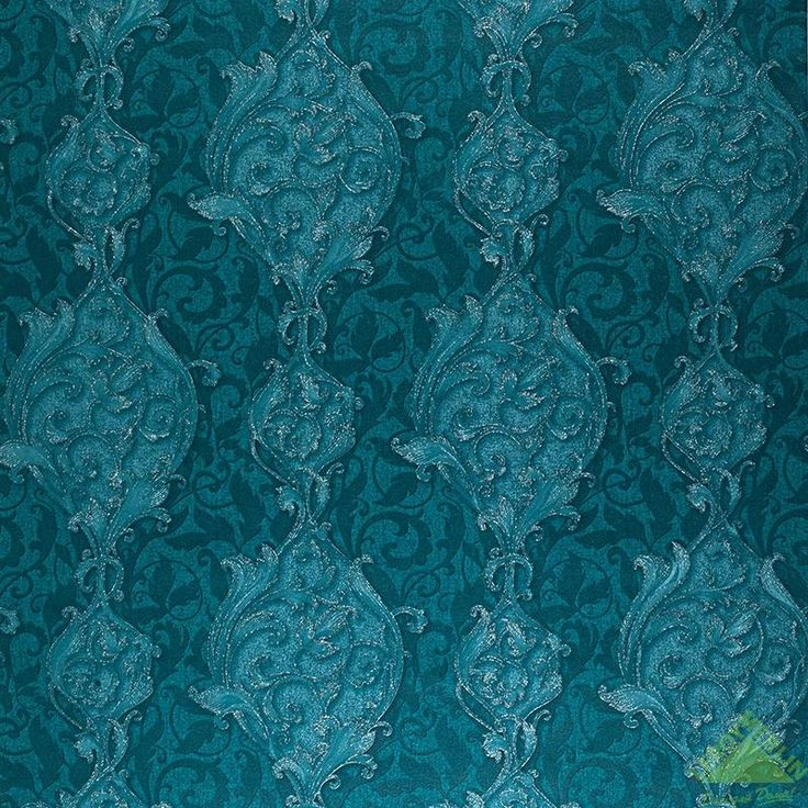 Обои флизелиновые 1,06х10 м, цветы, бирюзовый, Обои - Каталог Леруа Мерлен