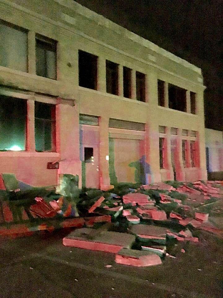 11/6/2016 EARTHQUAKES: Earthquake damage in Cushing, Oklahoma