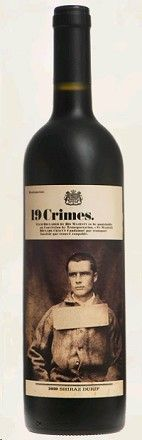 19 Crimes Red Wine 2012--Victoria, Australia--lovely red blend (cabernet, syrah, pinot noir, and Grenache) at a great price.