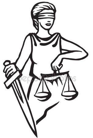 Themis Femida - goddess of justice. — Stock Vector © tinkerfrost #77400938