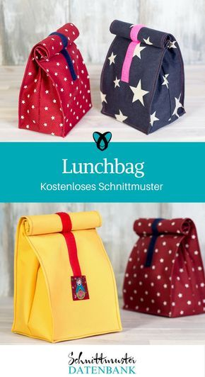 Lunchbag nähen kostenloses Schnittmuster Brotzeittüte, Brotzeitbag von pattydoo