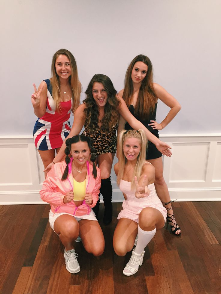 spice girls group costume  #halloween #dressup #girls
