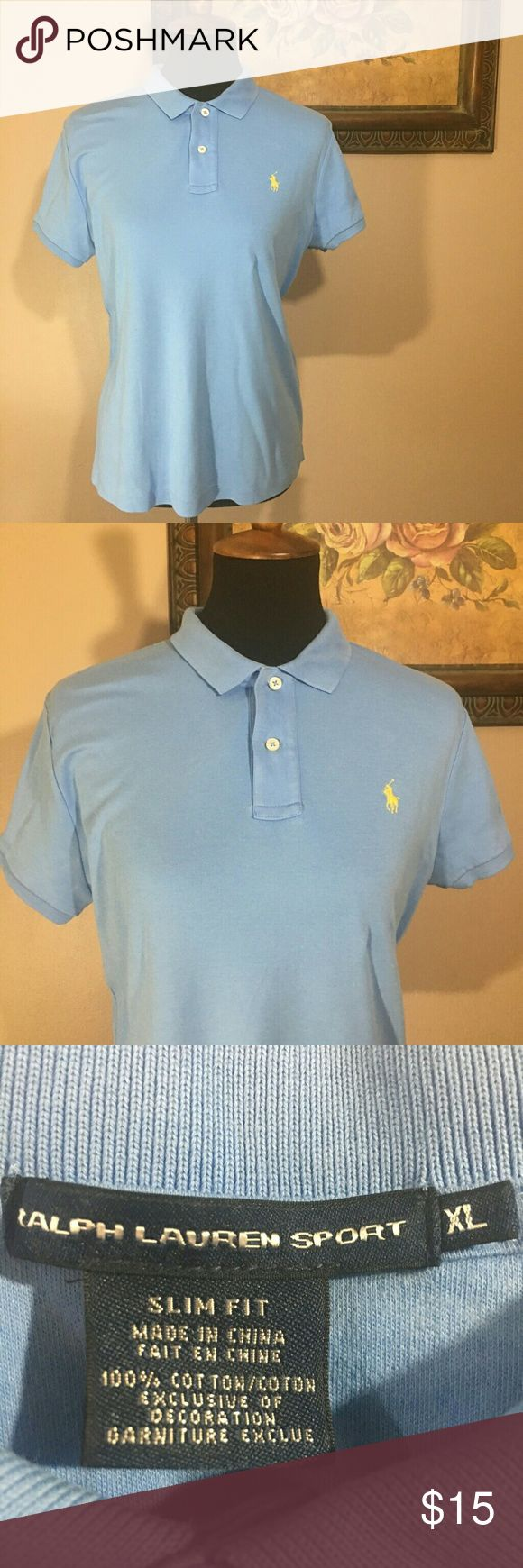 """Ralph Lauren Sport polo shirt Ralph Lauren Sport 2 button collar short sleeve polo shirt. Size XL.  Chest is 19"""" laying flat, length is 26"""". In excellent condition, no stains or tears Ralph Lauren Tops Tees - Short Sleeve"""