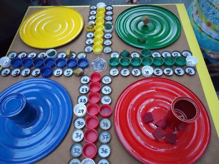 7 Juegos De Mesa Con Materiales Reciclados 1 2 3 Pinterest