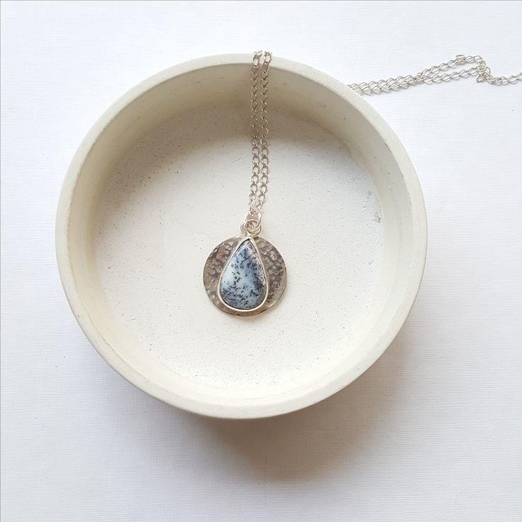 opal stone necklace. Hand made . Atölyemiz Canımız studio