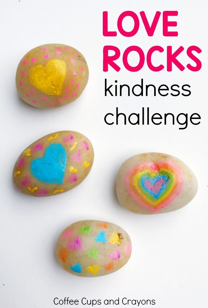 Love Rock Kindness Challenge | Coffee Cups and Crayons #actsofkindness #kindnessrocks #kidscrafts