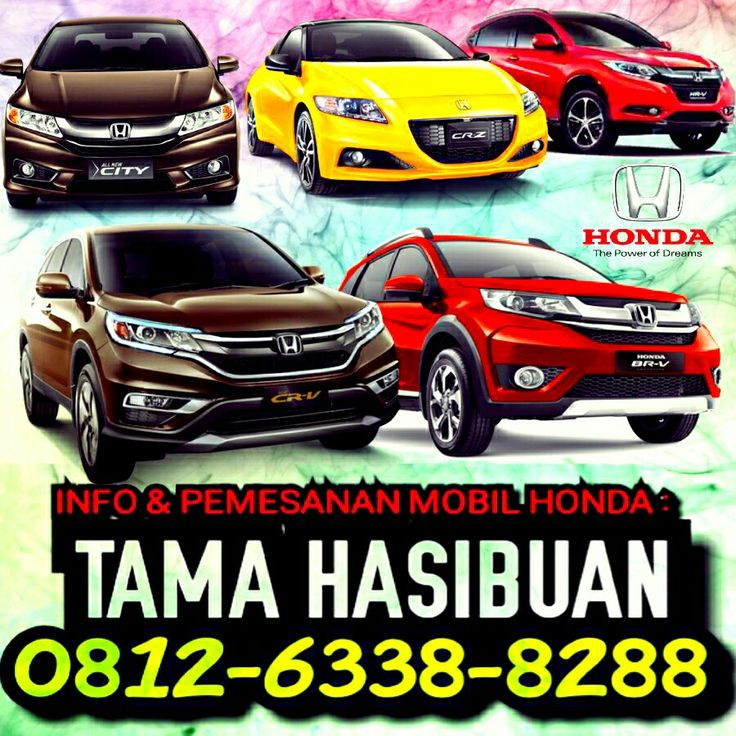 Info & Pemesanan MOBIL HONDA (all type) :  Hadlinsyah Pratama Hasibuan (HP) [TAMA HASIBUAN] Automotive consultant & Marketing Honda Arista Ringroad Medan Phone/Whatsapp : 0812-6338-8288 BBM : 59903594 Line : tamahasibuan