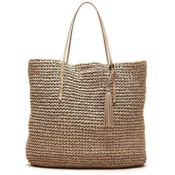 Banana Republic Woven Straw Tote Size One Size - Natural found on Polyvore