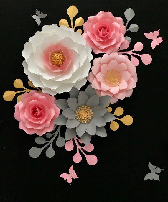 Big Paper Flower Centers Floral Center Template Big Center