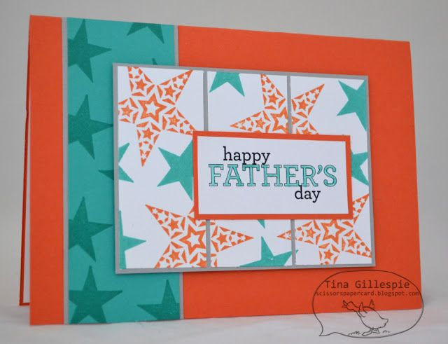 by Tina Gillespie, Scissors Paper Card: Simply Stars Father's Day Card