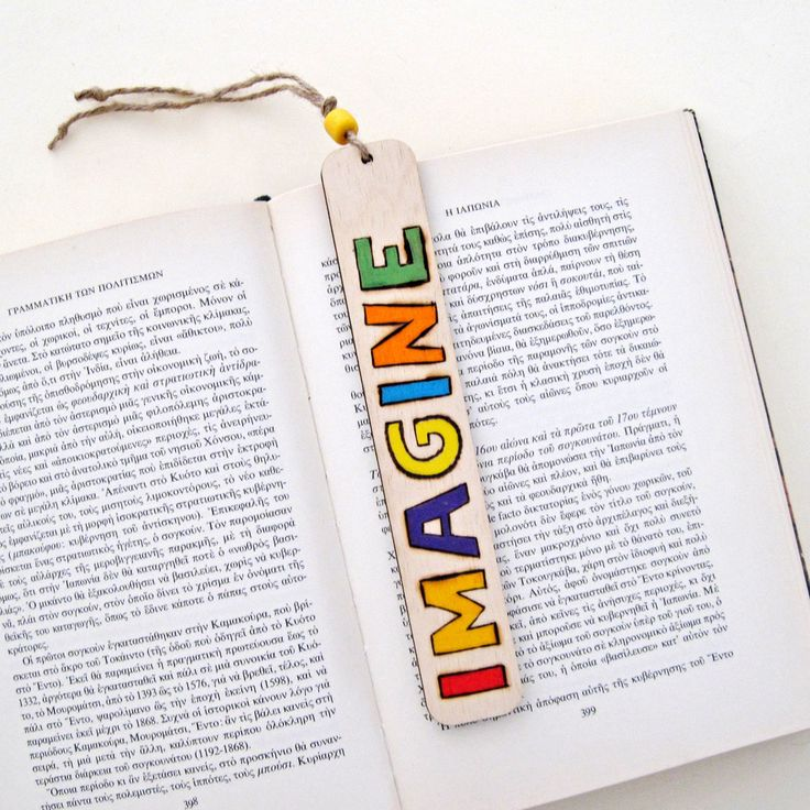 "Bookmark, wood burned bookmark, Pyrography, ""IMAGINE"" Thanks giving, unique gift for book lovers by DreamBigHandmade on Etsy"