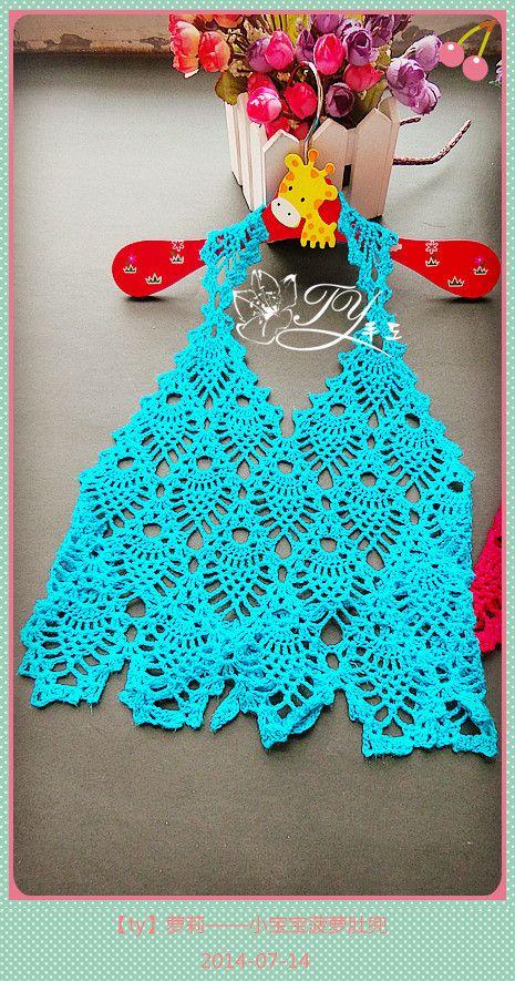1432,1433——萝莉——小宝宝菠萝肚兜 - ty - ty 的 编织博客