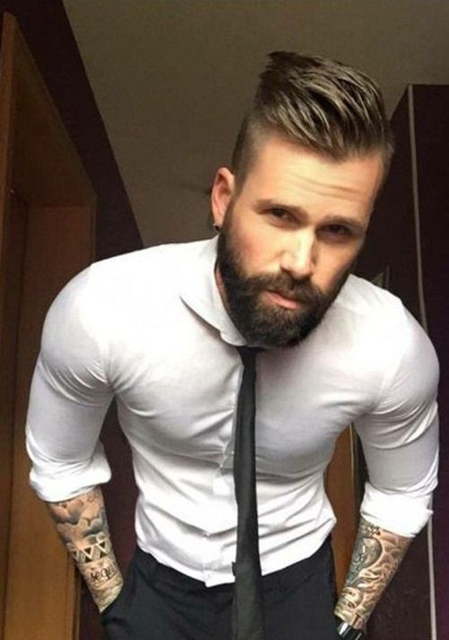9258d327f66 70 Stylish Haircuts with Beard for Mens 2018