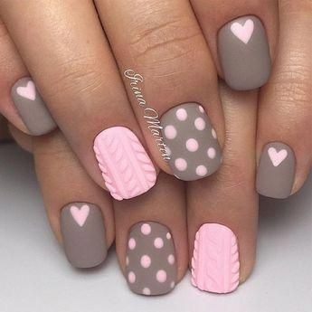 Nice 42 Inpiring Nail Polish Ideas For Valentines Day #simplenaildesigns
