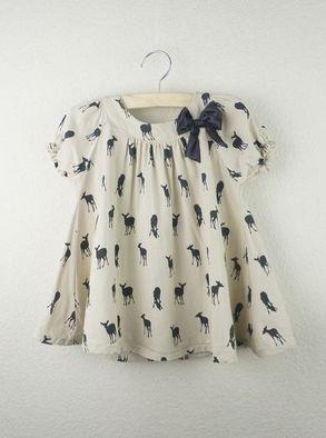 Girls Deer Silhouette Top | Maude
