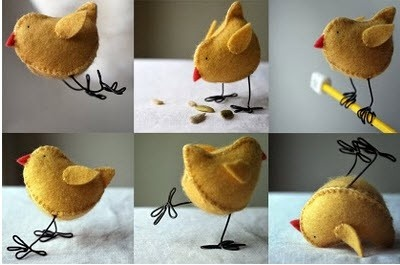 How To Make A Felt Chick With Wire Legs Tutorial