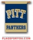 Pittsburgh Panthers Double Sided Outdoor Hanging Banner - 2 left