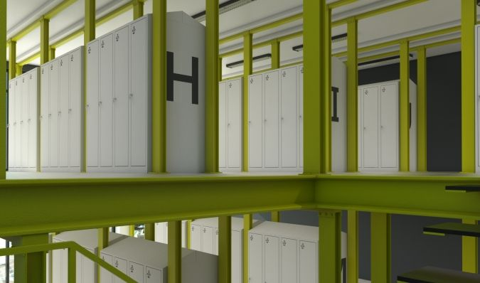 Uniform exchange lockers - Divided Lockers - Welled Lockers - ATEPAA® Clothes lockers manufacturer