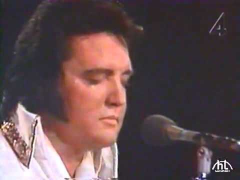 Elvis Presley 1977. Changing some of the words as he was singing.