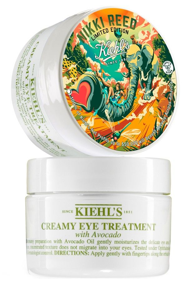 nikki reed for kiehl 39 s since 1851 creamy eye treatment. Black Bedroom Furniture Sets. Home Design Ideas