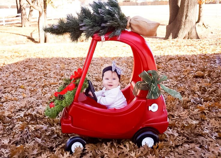 Monthly baby photography- first Christmas- 7 months old- baby photo
