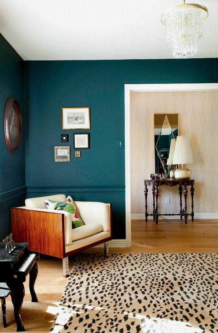 Wandfarbe Petrol - 8 Ideen für mehr Farbe im Interieur  Wohnen