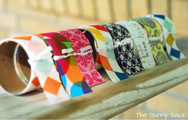 The Gunny Sack: How To Make Your Own Washi Tape Tutorial  http://www.thegunnysack.com/2012/05/how-to-make-your-own-washi-tape.html#