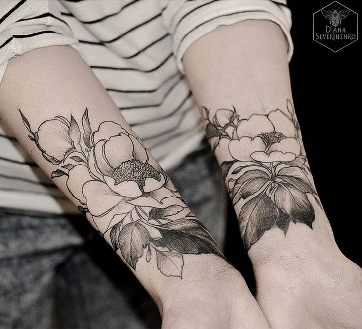 696 best botanical tattoo ideas images on pinterest for Forearm flower tattoos