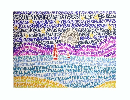 typography landscape- this could be done in so many ways and help with spelling words too!