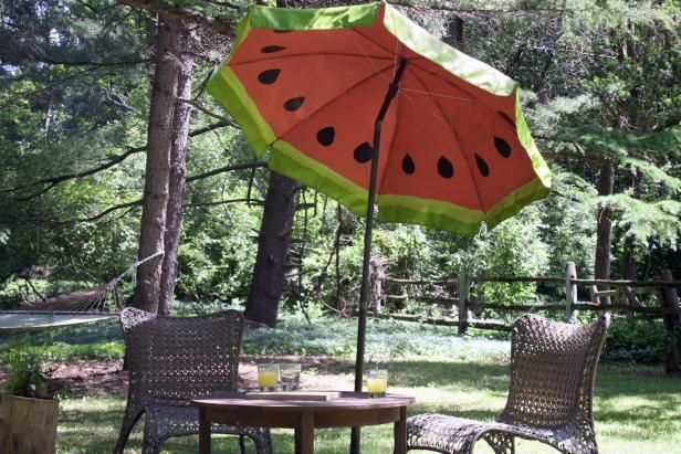 How To Paint A Watermelon Pattern On An Outdoor Umbrella