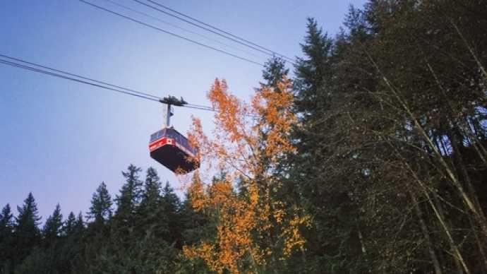 Summer gondola ride up Grouse Mountain. Image courtesy of Donna Dubas.