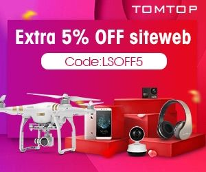 Extra 5% Off Sitewide at TomTop!