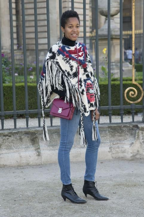 Tamu Mcpherson knows how rock a poncho - come get to know her fabulous style here
