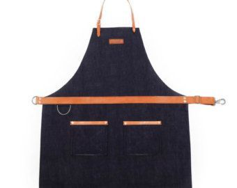 Rugged Men's Apron Waxed Canvas Charcoal by Hardmill | Etsy