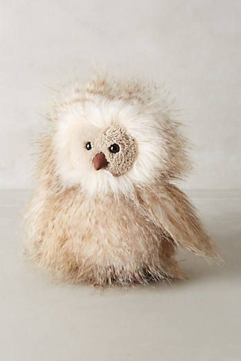 I so want this!!!  Antropologie.com Orlando Owl Stuffed Animal