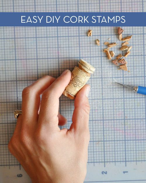How-to: Cork Stamps Two Ways