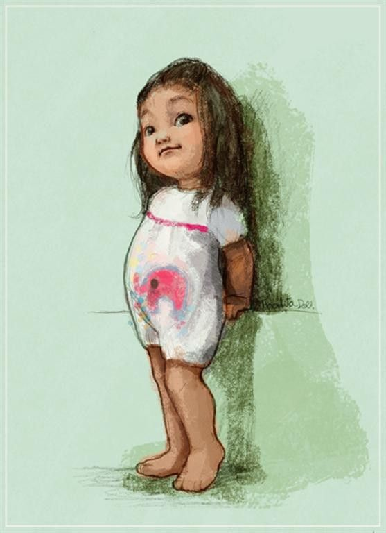 This artist will draw a custom illustration of a child's photo for you. Very cute!