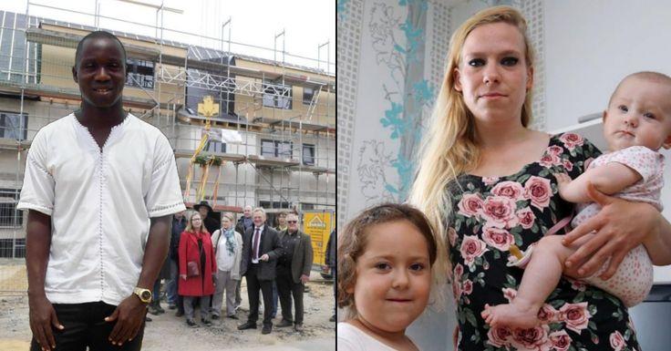 Für illegal eingereiste Flüchtlinge baut man heute nagelneue Mehrfamilienhäuser, während alleinerziehende, junge, deutsche Mütter ins Flüchtlingsheim ziehen sollen.