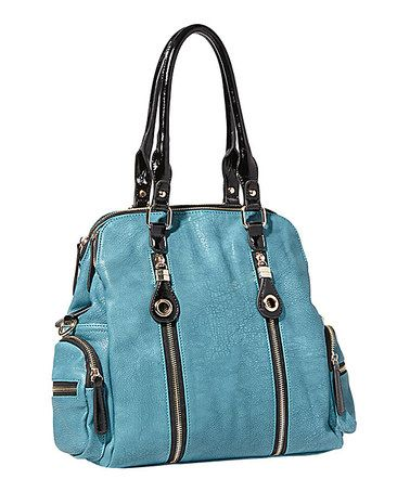 Take a look at this Turquoise Iris Tote by Big Buddha on #zulily today!