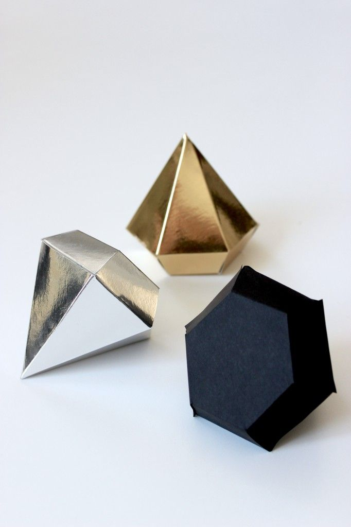 DIY diamond shaped gift boxes