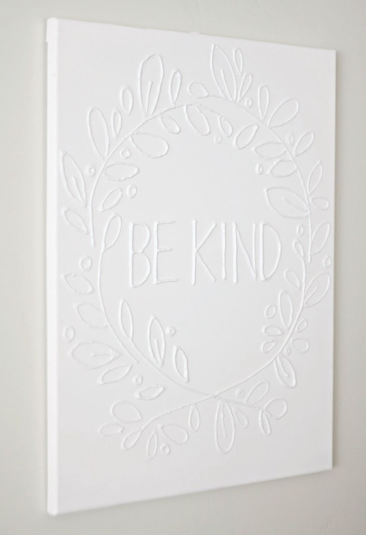 This is the easiest canvas wall art project you'll ever make - all you need is some glue and your favorite paint color. Customize with any saying you like!