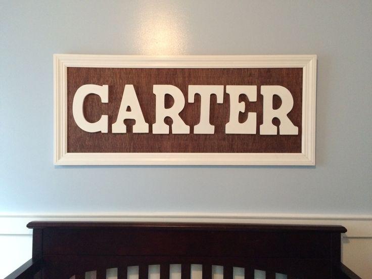 Name above crib nursery