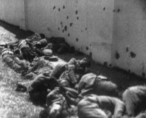 Tlatelolco section of Mexico City, students, citizens being massacred by their own country, USA tried the same at Kent State